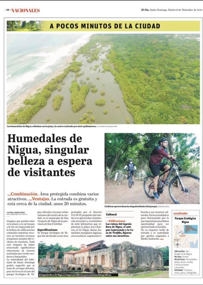 Gracias al periódico El Día por compartir con sus lectores, los atractivos Turístico, Cultural y Ecológico que posee Nigua.